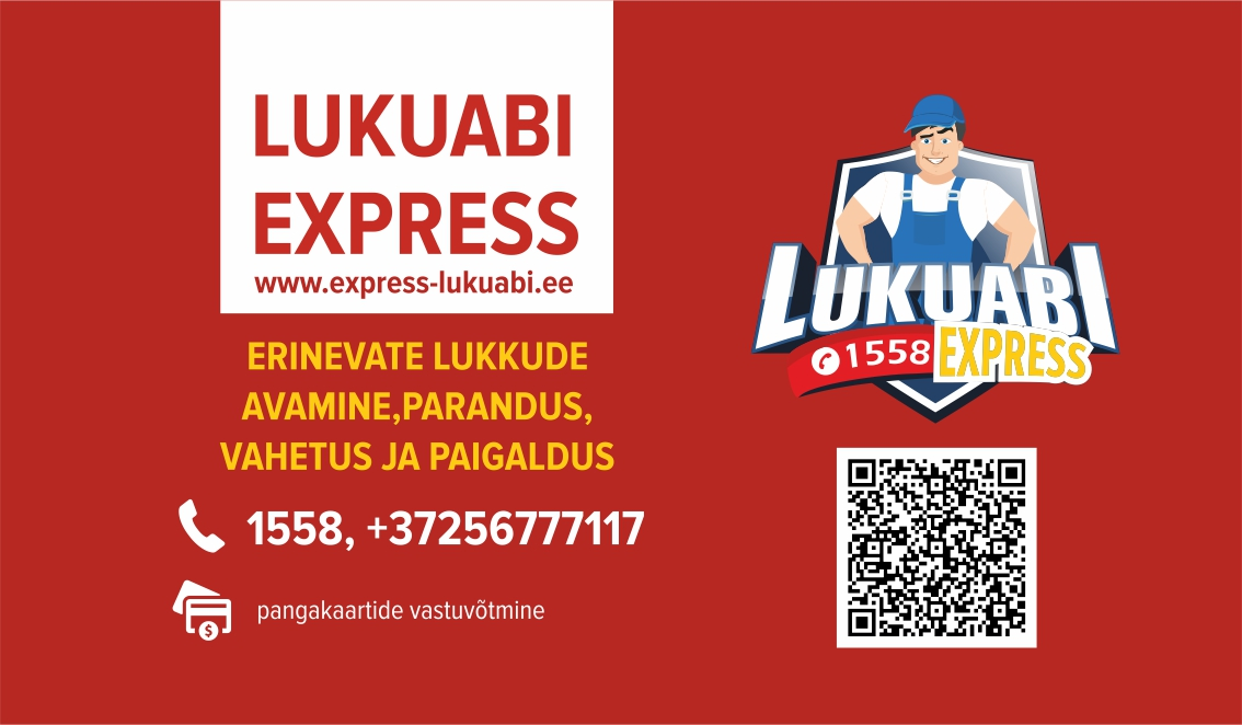 Lukuabi Express - lukkude avamine, vahetus ja paigadus Tallinnas ja Harjumaal